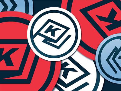 PKJ Sticker circle radial application sticker flag