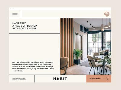 Habit Cafe - Homepage layout grid ui coffee homepage cafe