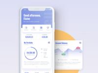 Finance app homepage ziyidesign