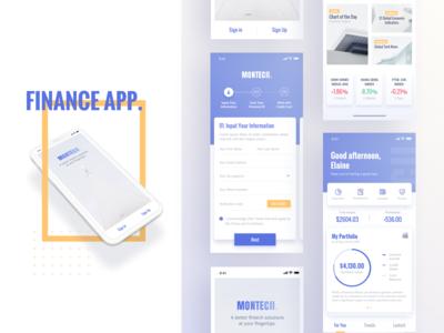 Finance App UI Design