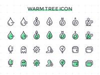 Warm tree icon design