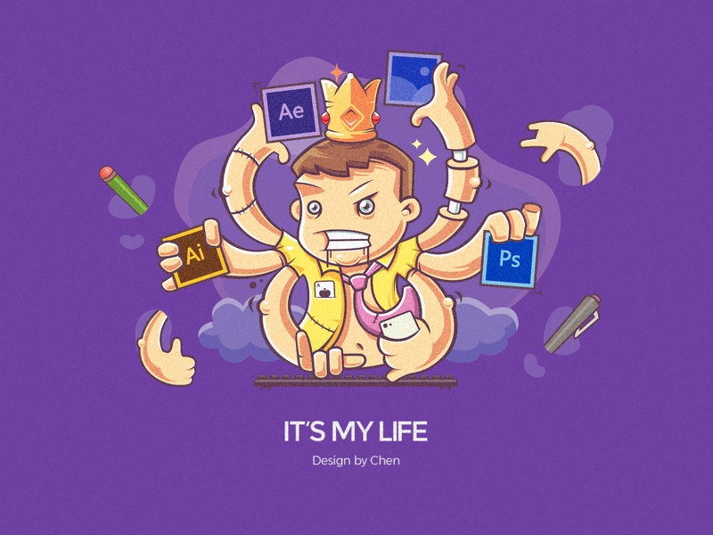 IT'S MY LIFE design ae ps illustration
