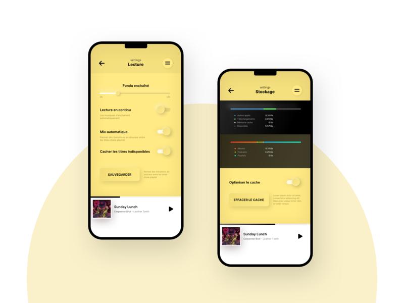 dailyUI - 007 - music app settings