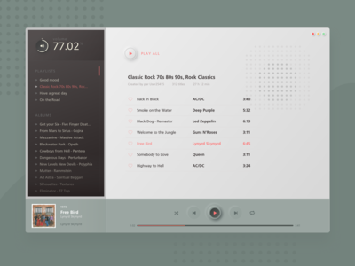 dailyUI - 009 - Retro Desktop music app