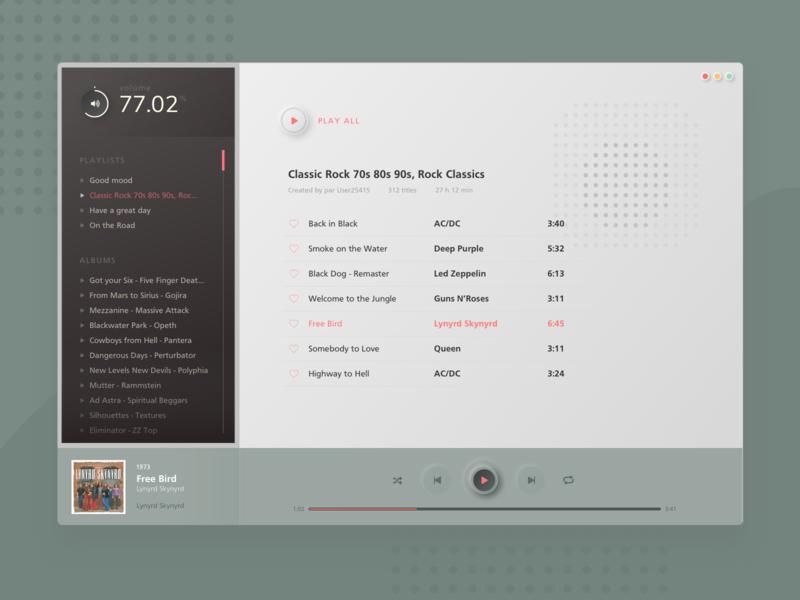 dailyUI - 009 - Retro Desktop music app