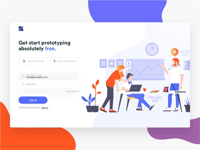 Login page - Prototype