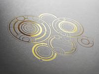 Metallic Gallifreyan writing 2