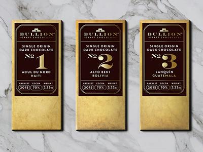 Bullion chocolate label desings