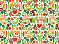 Vegetables repeat pattern