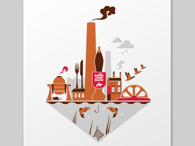 Welcome to the Kelham Island Quarter  illustration print sheffield