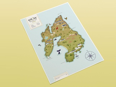 Whisky map of Islay