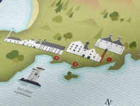 Whisky Map of Islay - Detail