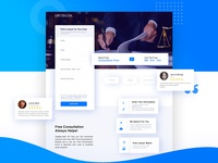 Lawyer Landing page concept