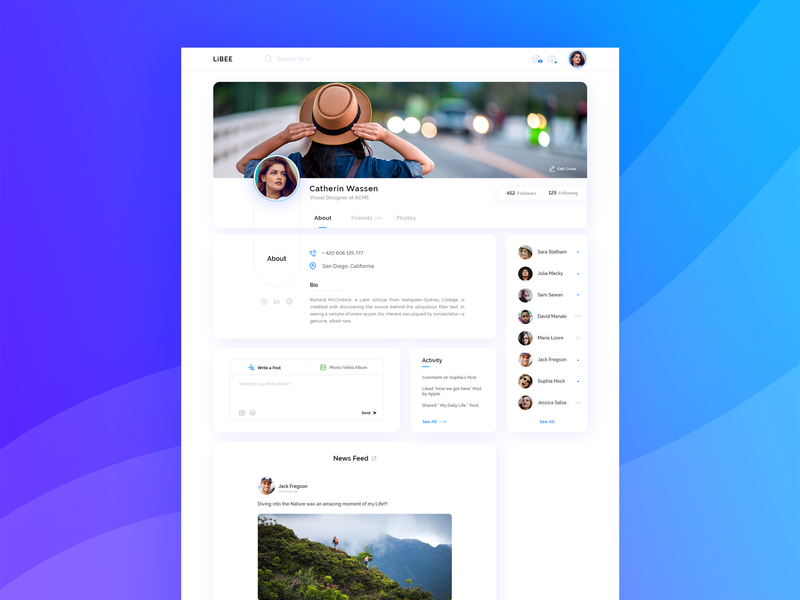 Profile Concept dash ui  ux dashboard template social media about social profile dashboard design dash board social profile cover website web  design web ui uiux ui  ux design ui dashbaord dashboard profile design profile