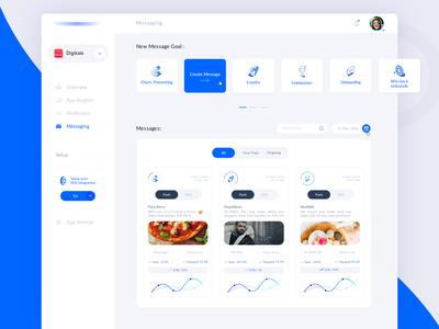 UI Design for a Digital Marketing WebApp - Messaging