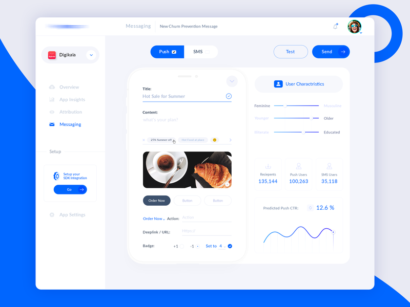 UI Design for a Digital Marketing WebApp - New Message app message ux designer user experience user interface user card user analysis marketing digital marketing product behance dribbble web application web app ui web app dashboard app dashboard web design ui ui  ux