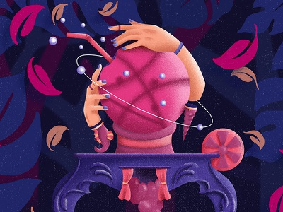 Hello Dribbble! hello clairvoyant illustration debut dribbble