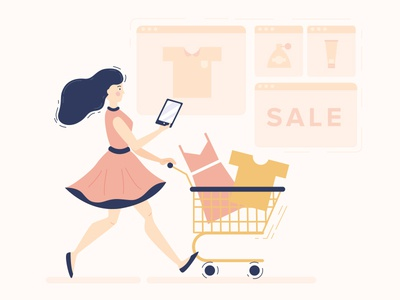 Online shopping illustration