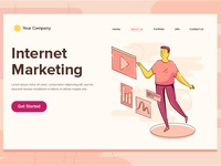 Internet Marketing Illustration