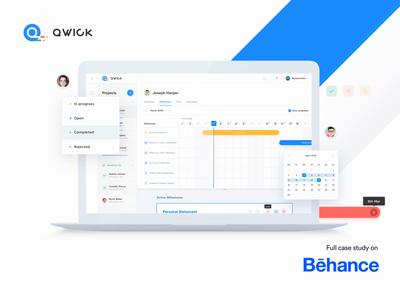 Qwick Platform - Behance Case Study