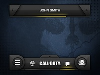 Call of Duty: Ghosts - Prototype - Global UI ui ux dark ghosts call of duty gaming fps shooter companion ios iphone