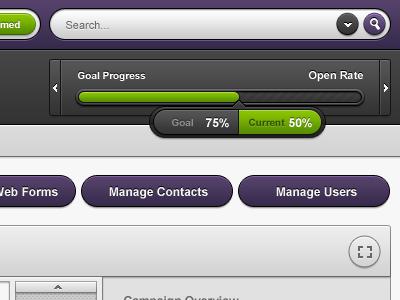 BuzzBuilder - Marketing Application - Utility gui ui interface clean dark purple progess stats search