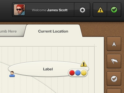 Work Flow Manager - Application interface gui ui ux charts graphs clean cork icons brown