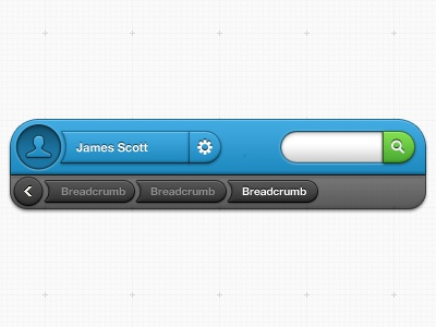Condensed Overlay Menu gui ui interface clean blue green notes paper soft bubbly round admin panel