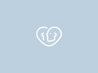 Whisper logo branding icon line clean simple talk heart