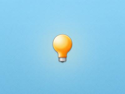 Lightbulb icon clean simple soft lightbulb light