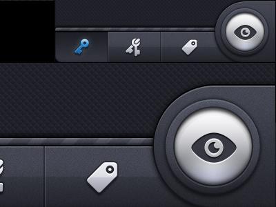Retina - Toolbar ios gui retina texture dark ui interface 2x 1x blue
