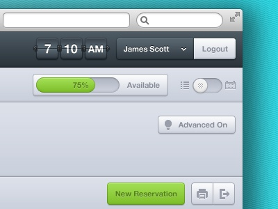 Bellboy  ui interface gui progress toggle button flipper time account hotel reserve clean blue
