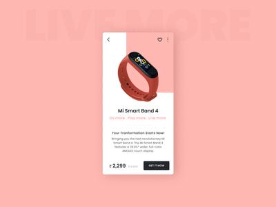 Mi Ui Redesign : Smartband 4