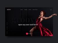 Groove Dance Studio - Landing Page Design