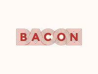 Bacon Lettering