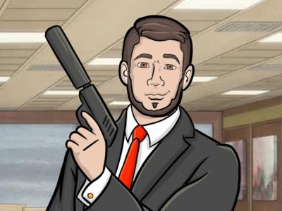 Archer Stylized Caricature of a Friend