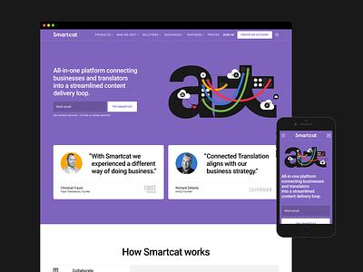 Smartcat Website web page webdesign ui ux ui web ui layout website design web web design website