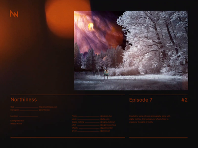 Northiness Episode 7 video effects 3d infrared photography layout digital art art light leaks fashion typography visual effects ae after effects video