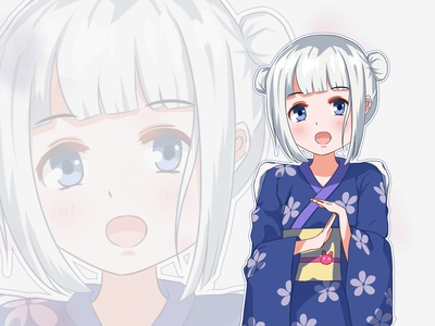 Draw a Japanese-style girl
