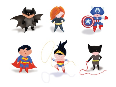 superheros dribbble shot