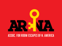 Arena Logo  Final  yellow red room escapes arena