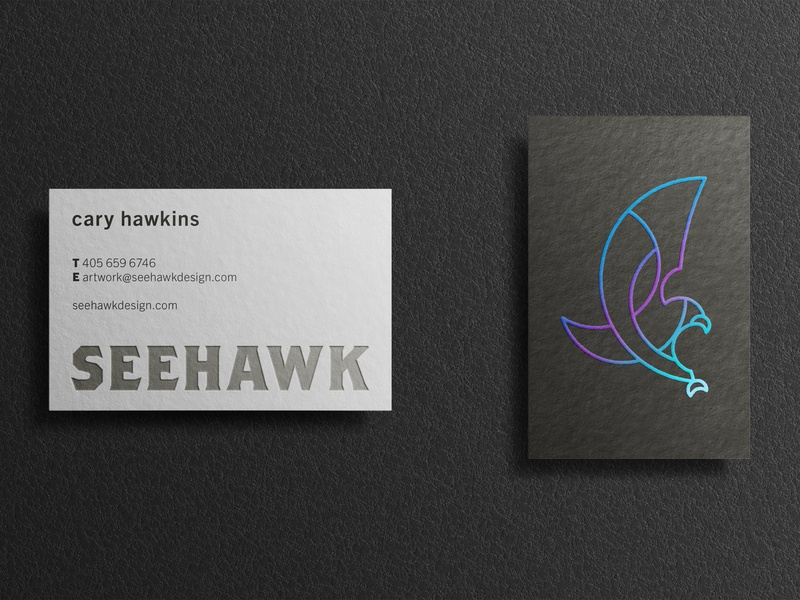 New Personal Brand branding charcoal grey black blue foil iridescent business card logo