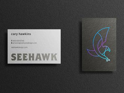 New Personal Brand branding charcoal grey black blue foil iridescent business card logo