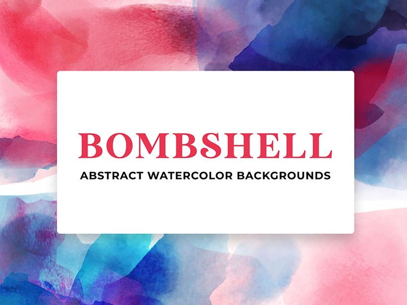 Bombshell Abstract Watercolor Backgrounds visual design graphicdesign branding abstract watercolor ui design digital art photoshop illustration