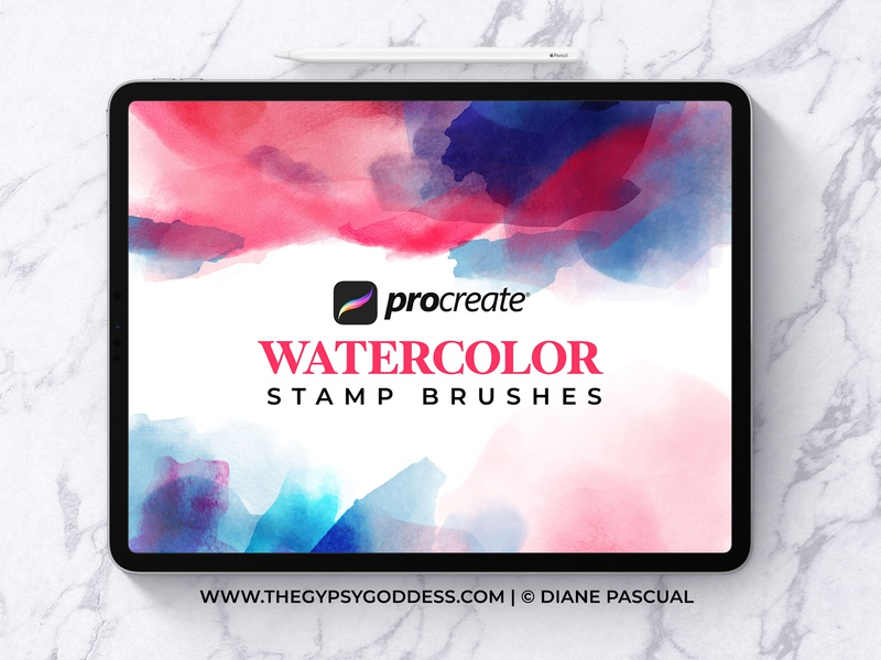 Procreate Watercolor Brushes Free this week! stamp brushes abstract boho graphic design brushes ipadpro procreate brushes watercolor procreate