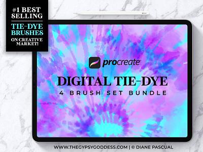 Procreate Tie-Dye Brush Bundle! brushes procreate art surface pattern design pattern graphic design tie-dye digital art photoshop procreate brushes procreate app procreate