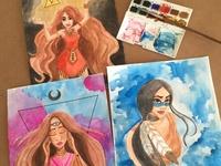 Watercolor paintings