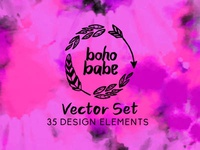 Boho Babe - Vector Set