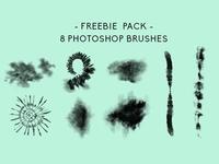 FREEBIE PACK 8 Photoshop Brushes + More!