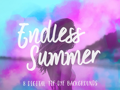 """Free Mobile Screens! """"Endless Summer"""" Backgrounds neon digital watercolor watercolor photoshop beach dreamy digital tie-dye tie-dye turquoise pink summer backgrounds"""